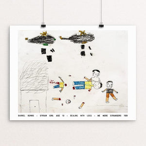 "Barrel Bombs by David Gross 12"" by 16"" Print / Unframed Print We Were Strangers Too"