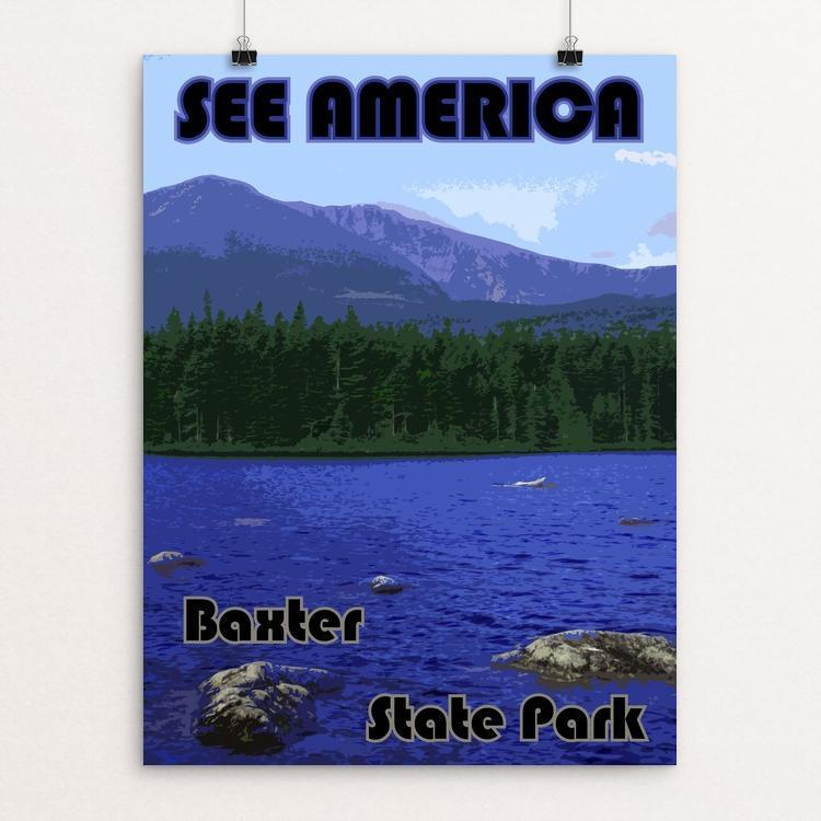 "Baxter State Park by Eitan S. Kaplan 12"" by 16"" Print / Unframed Print See America"