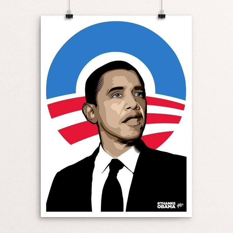 "Be the Change (2016) by David Hays 12"" by 16"" Print / Unframed Print Design For Obama"
