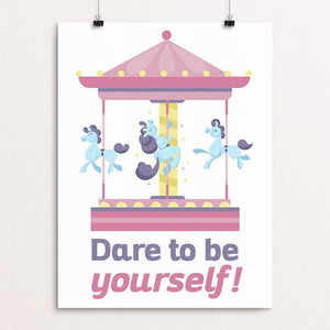 "Be yourself!! by Jaime Hayde 12"" by 16"" Print / Unframed Print Creative Action Network"