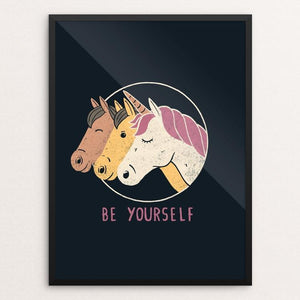 "Be Yourself by Tobias Fonseca 12"" by 16"" Print / Framed Print Creative Action Network"