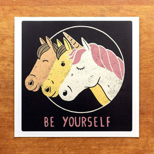 Be Yourself Sticker by Tobias Fonseca 5.5x5.5 inch / 2 Pack Stickers Creative Action Network