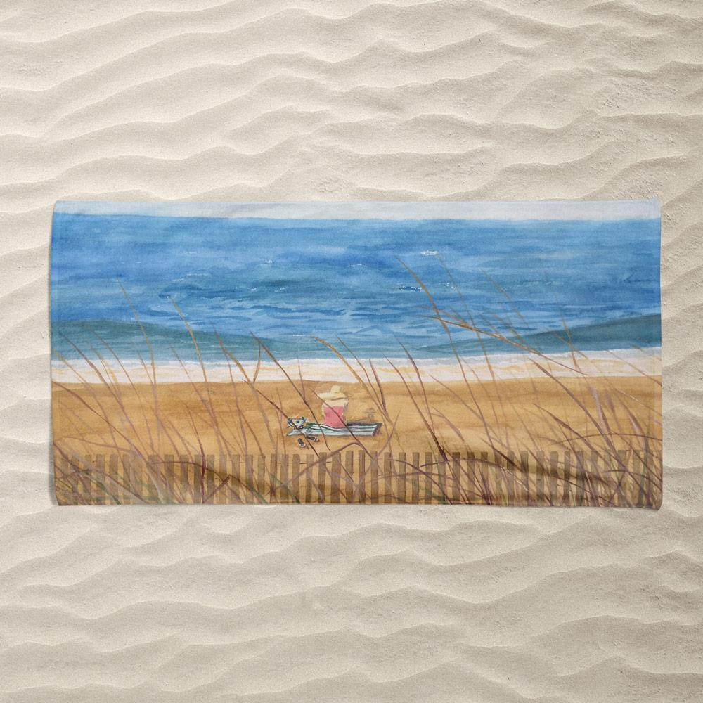 Beach Memories Beach Towel by Christine Lathrop Beach Towel Ocean Love