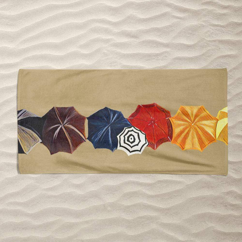 Beach Umbrellas by Bryan Bromstrup Beach Towel Ocean Love