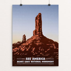 "Bears Ears National Monument by Bryan Clocker 12"" by 16"" Print / Unframed Print See America"