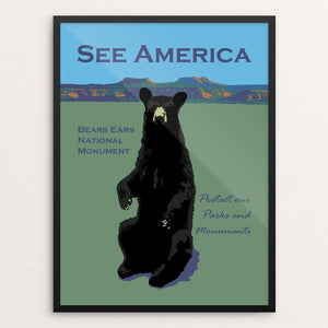 "Bears Ears National Monument by Candy Medusa 12"" by 16"" Print / Framed Print See America"