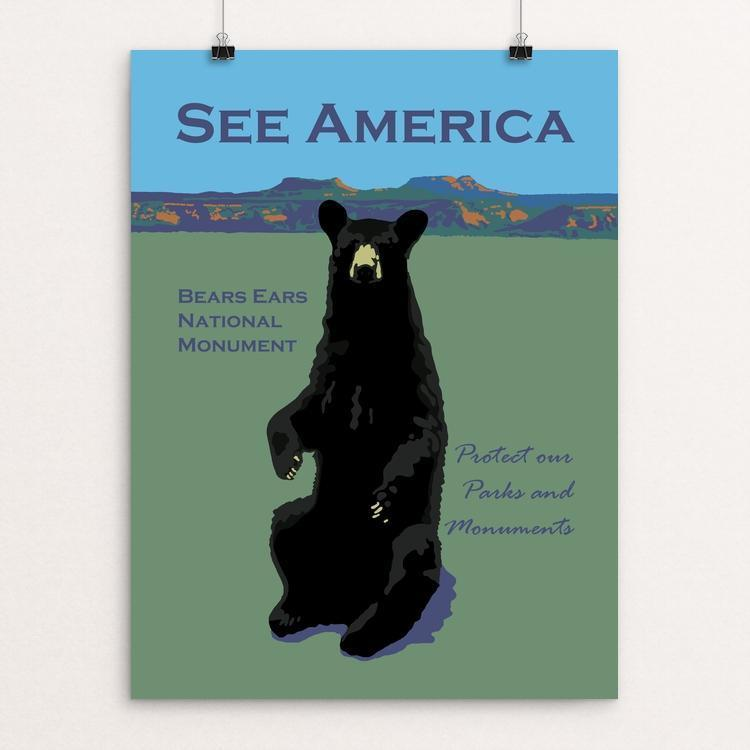 "Bears Ears National Monument by Candy Medusa 12"" by 16"" Print / Unframed Print See America"