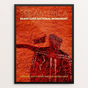 "Bears Ears National Monument by Chris Lozos 12"" by 16"" Print / Framed Print See America"