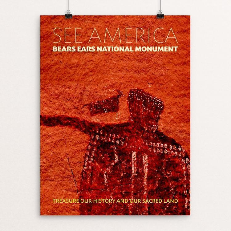 "Bears Ears National Monument by Chris Lozos 12"" by 16"" Print / Unframed Print See America"