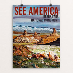"Bears Ears National Monument-Valley of the Gods by Bruce and Scott Sink 12"" by 16"" Print / Unframed Print See America"