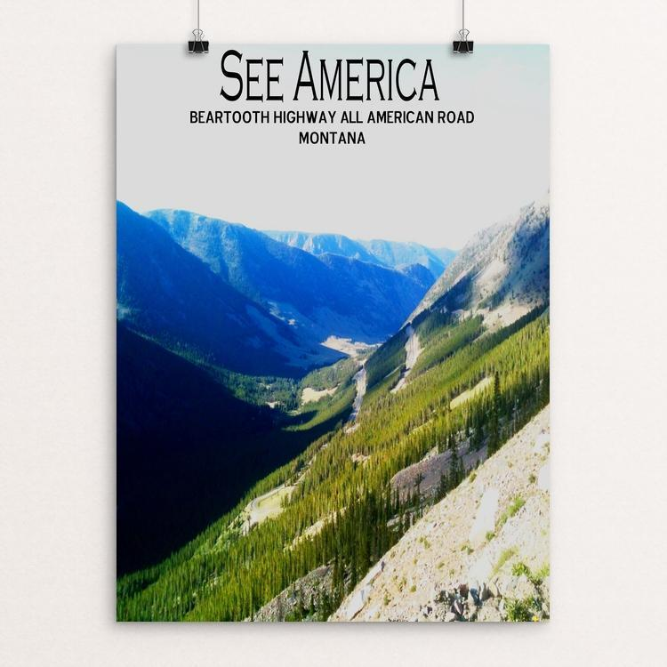 "Beartooth Highway by Bryan Bromstrup 12"" by 16"" Print / Unframed Print See America"