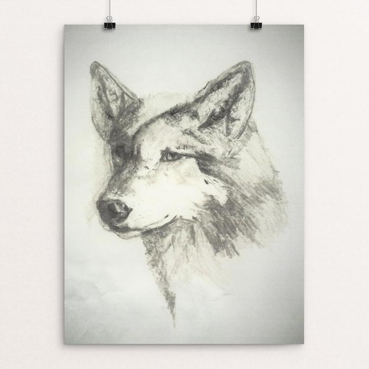"Beautiful Grey Wolf by Deborah Gorga 12"" by 16"" Print / Unframed Print Join the Pack"
