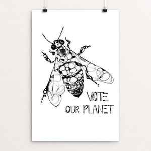 "Bee by Britt Freda 12"" by 18"" Print / Unframed Print Vote Our Planet"