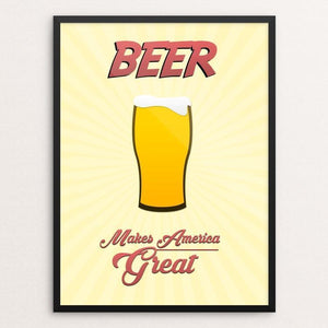 "Beer by Jake Dillman 12"" by 16"" Print / Framed Print What Makes America Great"