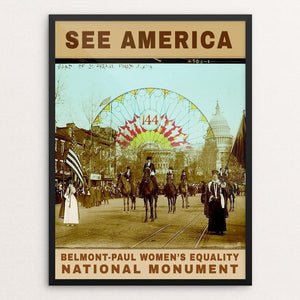 "Belmont-Paul Women's Equality National Monument by Bee Joy 12"" by 16"" Print / Framed Print See America"