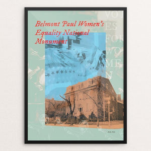 "Belmont Paul Women's Equality National Monument by Melly Wells 12"" by 16"" Print / Framed Print See America"