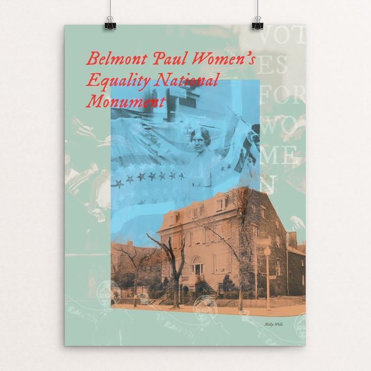 "Belmont Paul Women's Equality National Monument by Melly Wells 12"" by 16"" Print / Unframed Print See America"
