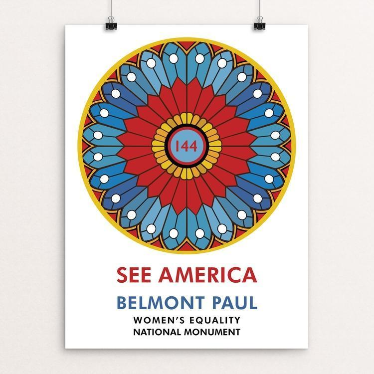 "Belmont Paul Women's Equality National Monument by Pani Fuladvand 12"" by 16"" Print / Unframed Print See America"