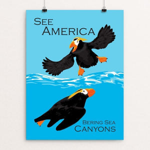 "Bering Sea Canyons by Candy Medusa 18"" by 24"" Print / Unframed Print See America"