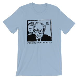 Bernie Has A Posse T-Shirt by Jeremy Merrill S / Men's / Light Blue T-Shirt Working Families P(ART)Y