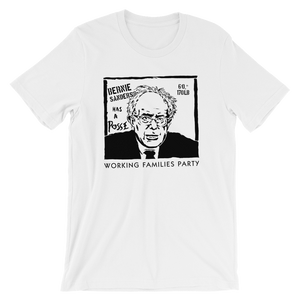 Bernie Has A Posse T-Shirt by Jeremy Merrill S / Men's / White T-Shirt Working Families P(ART)Y