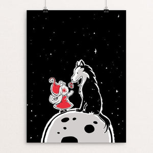 "Big Bad Wolf by Giorgia Romano 12"" by 16"" Print / Unframed Print Join the Pack"