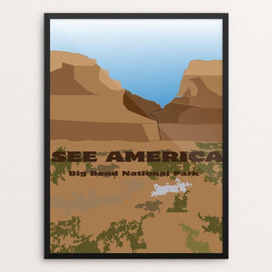 "Big Bend National Park by Cameron Jones 12"" by 16"" Print / Framed Print See America"