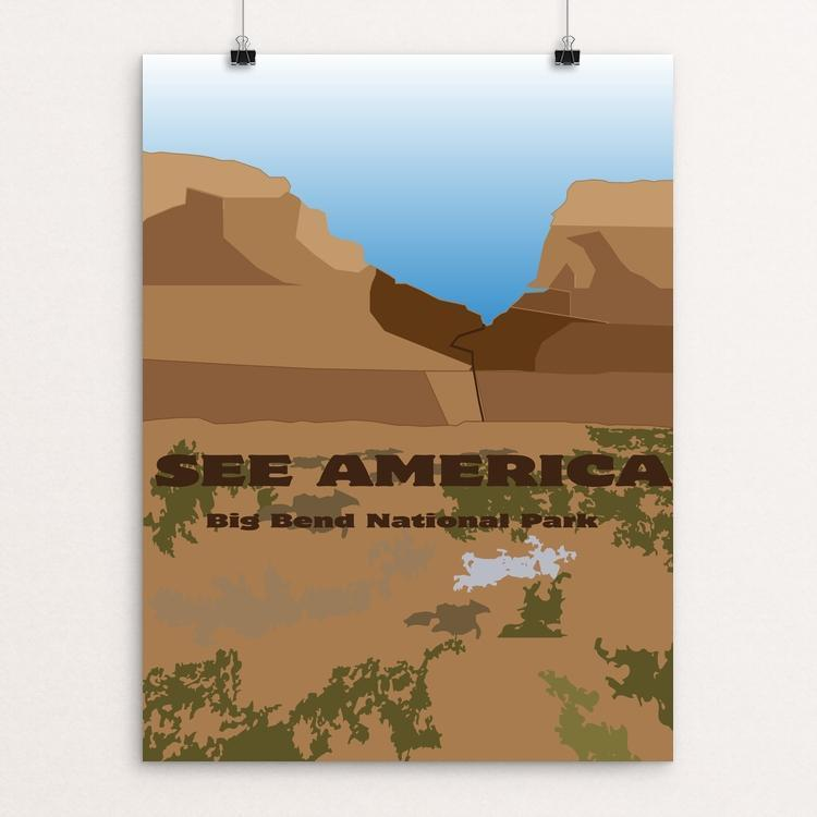 "Big Bend National Park by Cameron Jones 12"" by 16"" Print / Unframed Print See America"