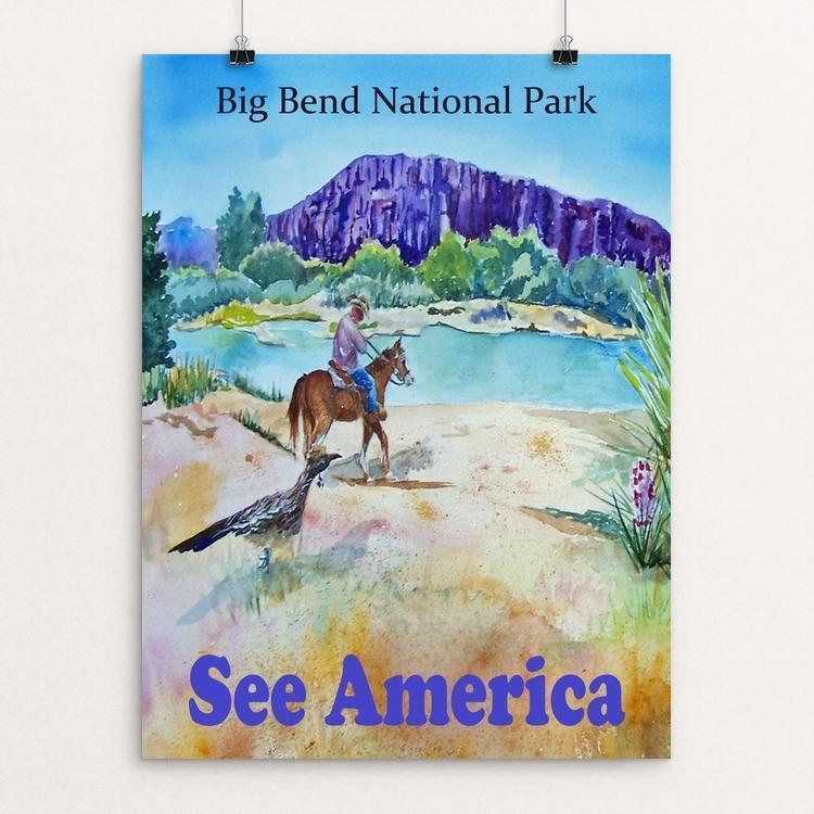 "Big Bend National Park by Christine Lathrop 12"" by 16"" Print / Unframed Print See America"
