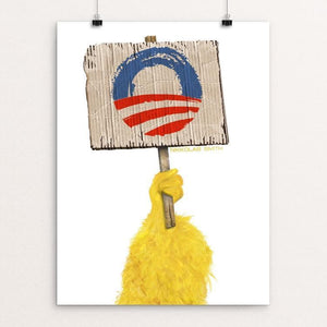 "Big Birds for Obama by Nikkolas Smith 12"" by 16"" Print / Unframed Print Design for Obama"