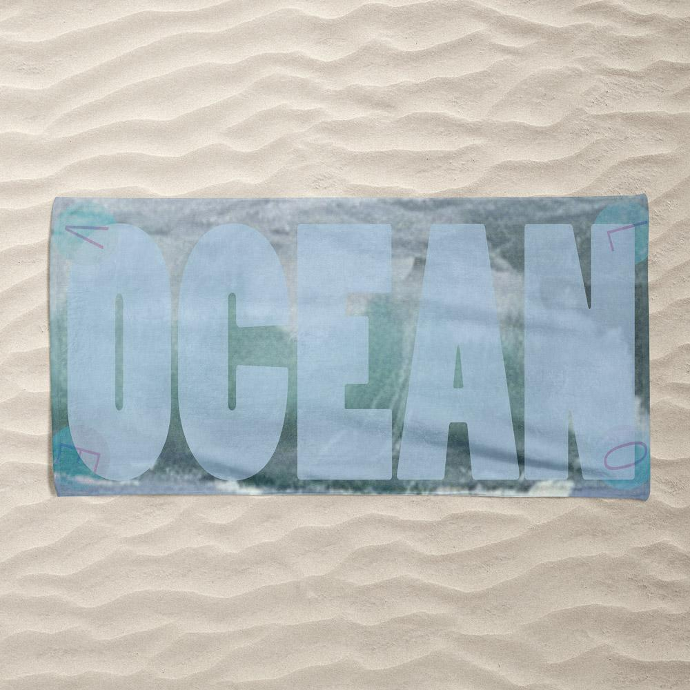 Big Blue by Vivian Chang Beach Towel Ocean Love