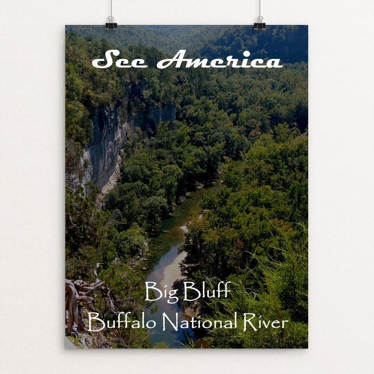 "Big Bluff, Buffalo National River by Nathan 12"" by 16"" Print / Unframed Print See America"