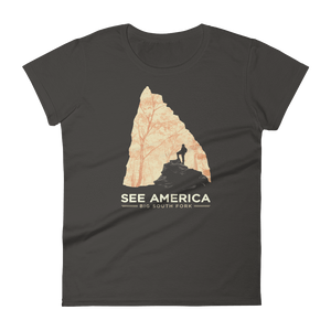 Big South Fork National River and Recreation Area T-Shirt by Jon Cain S / Women's / smoke T-Shirt See America
