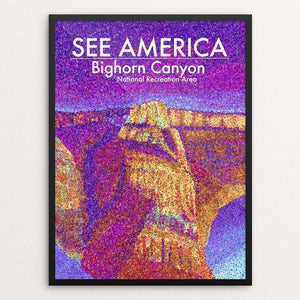 "Bighorn Canyon National Recreation Area by Lauren White 12"" by 16"" Print / Framed Print See America"
