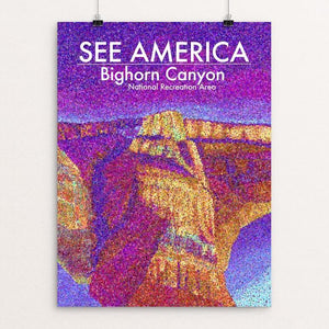 "Bighorn Canyon National Recreation Area by Lauren White 12"" by 16"" Print / Unframed Print See America"