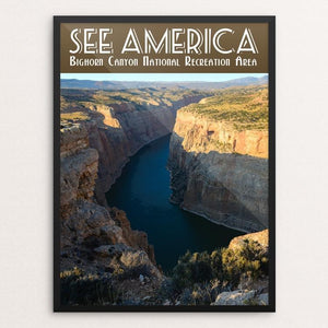 "Bighorn Canyon National Recreation Area by Zack Frank 12"" by 16"" Print / Framed Print See America"
