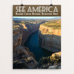 "Bighorn Canyon National Recreation Area by Zack Frank 12"" by 16"" Print / Unframed Print See America"