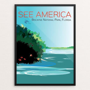 "Biscayne National Park (2) by Annie Byers 12"" by 16"" Print / Framed Print See America"