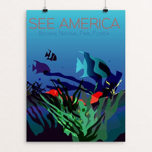 "Biscayne National Park by Annie Byers 12"" by 16"" Print / Unframed Print See America"