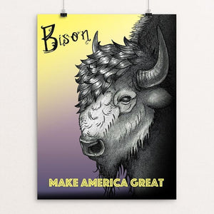 "Bison by Joanna Stiehl 12"" by 16"" Print / Unframed Print What Makes America Great"