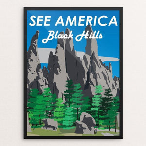 "Black Hills by Ethan Diaz 12"" by 16"" Print / Framed Print See America"