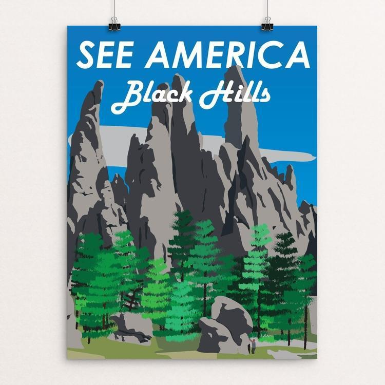"Black Hills by Ethan Diaz 12"" by 16"" Print / Unframed Print See America"