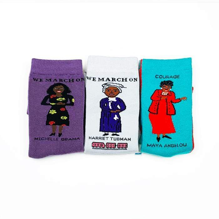 Black History Feminist Sock 3-Pack Gift Set by Maggie Stern
