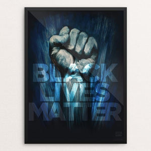 "Black Lives Matter by Adam Doyle 18"" by 24"" Print / Framed Print Creative Action Network"