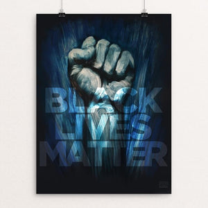 "Black Lives Matter by Adam Doyle 18"" by 24"" Print / Unframed Print Creative Action Network"