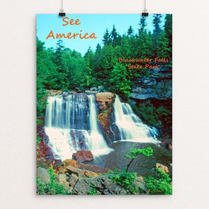 "Blackwater Falls by Anthony Chiffolo 12"" by 16"" Print / Unframed Print See America"