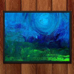 "Blue Moon by Chris W. Framed / 16"" by 12"" Print Creativity Beyond Boundaries"