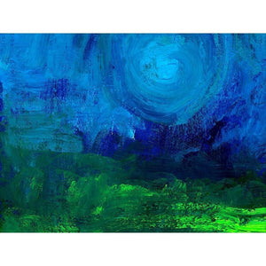 "Blue Moon by Chris W. Unframed / 16"" by 12"" Print Creativity Beyond Boundaries"