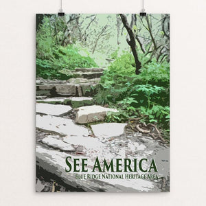 "Blue Ridge National Heritage Area by Shannon Carnevale 12"" by 16"" Print / Unframed Print See America"