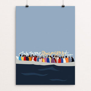 "Boat Arrivals in Malta - We Were Strangers Too by Casey Callahan 12"" by 16"" Print / Unframed Print We Were Strangers Too"